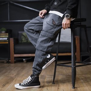 Men's Large size sweatpants men trend 2020 Tooling Winter pantalones streetwear trousers casual trousers Hip hop loose jeans