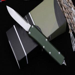 Newer Mic Technology UT85 [Green Handle] Liga de Alumínio Caça Dobrável Faca De Bolso Faca de Sobrevivência Faca Xmas Presente D2 Cópias