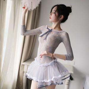 Sexy Girl Etudiants Cosplay Lingerie Erotique Princesse Arc Dress Porn Transparents School Girl Uniformes Sexe adulte Sous-vêtements Costume Q1205