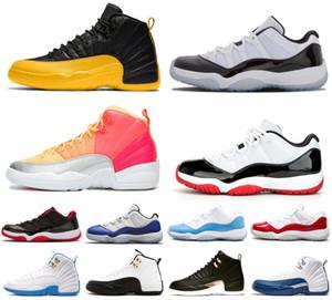 2020 Grip oyunu Üniversite 11S 25th Mens Bayan Basketbol Ayakkabıları Yeni Bred 12s Koyu Concord 12 Eğitmenler Birliği Albümü Spor Sneakers