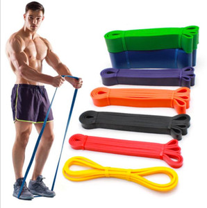 Colourful 5 Size Yoga belt Resistance Bands Gym Home Exercise Elastic Rubber Band for Men Women Yoga Tension Band