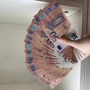 2020 50 euros Prop realista dinero nos niños jugar juguete o juego familiar copia en papel del billete de banco para la recolección de 038 100pcs / pack