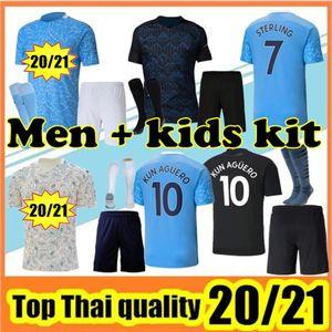 NEW 2020/21 STERLING De Bruyne KUN Agüero futebol manchester Jersey City 2020 2021 SANE camisa JESUS futebol homens + kids kit conjuntos de casa uniforme