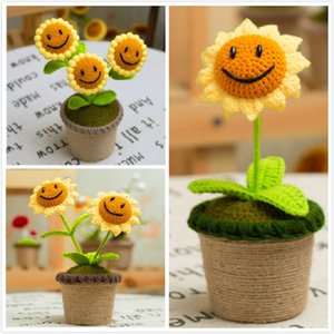 NuoNuoWell Handmade Craft Plants Vs. Zombies Model Knitting Wool Sunflower Decoration Artificial Flowers Z1120