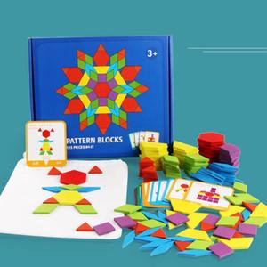 جديد الاطفال خشبية 3d بانوراما لغز ذكي مجلس الطفل مونتيسوري التعليمية ألعاب تعليمية للأطفال شكل هندسي الألغاز