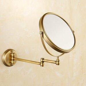 العتيقة برونزية الحمام مرآة النحاس أنيقة 8 بوصة مرآة الحمام، المكبر الملحقات الجمال إرسال من روسيا