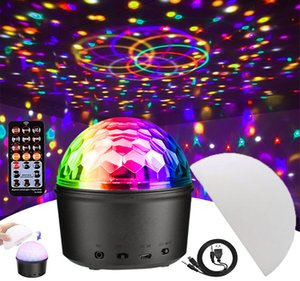9 Color Disco Crystal Ball Light LED RGB Three-in-one Party Light Mini DJ Stage Lamp Colorful Projector Music Lamp Sounder USB rechargable