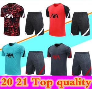 20 21 camisas de futebol manga curta camisa polo treinamento terno 2020 2021 homens 3/4 calças maillots de futebol shirts tracksuit