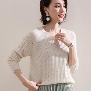 2020 New Autumn Winter Women O-Neck Warm 100% Cashmere Knitted Pullovers Female Long Sleeve Solid Color Jumper Girl Clothes S-XX