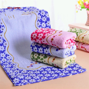 Printing Towel Lucky Flower Simple Facecloth Home Supplies Breathable Cotton Fashion Woman Man Washcloth Gift 1 9xa K2