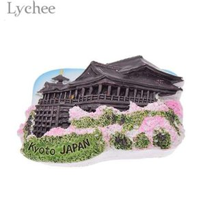 Mıknatıs Lychee 3D Japonya Kiyomizu Tapınağı Manzara Buzdolabı Buzdolabı Manyetik Sticker Yaratıcı Ev Dekorasyon Seyahat SoxHeqx5