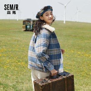 Semir Automne laine Veste 2020 Automne Nouveau Style Plaid hiver épais manteau épais de style de collège doux femme