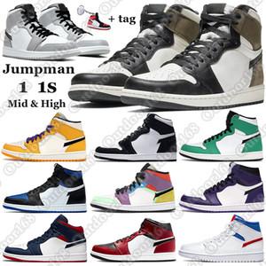 7-13 chaussures de basketball Top 3 High nike air jordan retro 1 OG Revente Noir Toe Banne milieu de chicago Track Red 1s UNC mens chaussures de sport de marque Sneakers
