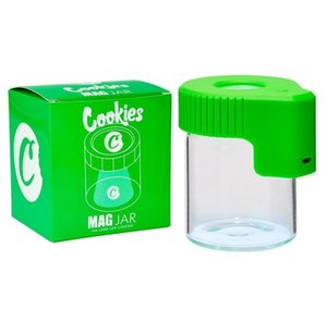 Cookies Led Light Tobacco Container Rechargeable Medicine Box Glass Cases Jars Dab Wax 155ml Storage Herb Rolling Cigarette Glow T bbyPoRv