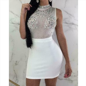 Sexy Women Evening Party Dress Bandage Bodycon Sleeveless Clubwear Ladies Summer Short Slim Fit Mini vestidos Dress Sundress