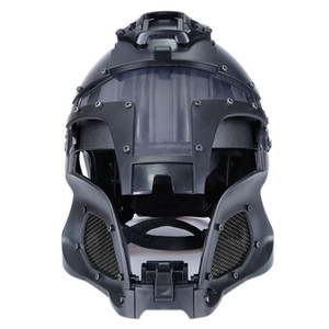 Multi Function Iron Mesh Tactical Mask with Fast Helmet and Tactical Goggles Airsoft Hunting Motorcycle Sport Play zdl1229.