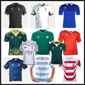 2019 Fiji Rugby Jersey Yeni Zelanda Gömlek Japonya Dünya Kupası Avustralya Güney Afrika Galler Arjantin Samoa Rugby Jersey S-3XL
