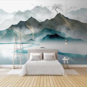 Bacal custom 3D wallpaper mural modern light luxury abstract ink landscape 5d wall murals decoration painting wallpaper home