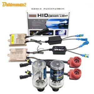 Buildreamen2 D2 D2S D2C D2R AC HID 전체 크세논 키트 밸러스트 + 전구 + 하네스 와이어 4300K 6000K 8000K 10000K 12V 자동차 라이트 헤드 라이트 1