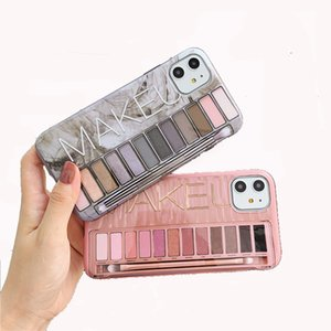 Dropshipping Luxury Sexy Makeup Eye Shadow Box Case For iPhone 11 Pro Max 11Pro 11 XS MAX XS IMD Glossy New Rose Gold Back Cover