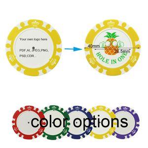 Cynmei Golf Poker Chips Набор Big Markers Pack из 10 Индивидуальные напечатанные Clay Chips Аксессуары для гольфа с наложением на железа 40 мм (DIA) 201124
