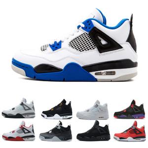 4 4s Кактус Джек Обувь для мужчин Чистые деньги Выведенные Raptors White Cement Oreo Новые спортивные мужские спортивные кроссовки на открытом воздухе