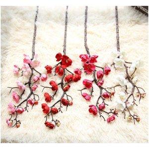 60cm 4Color Fleurs artificielles Cherry Blossom 10pieces / Lot Home Table Vase Vase Mariage Fête Fête Decora Jllwdh Eatout