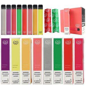 37 arômes Bar Puff Plus de vapes jetables Dispositif Pod Kit 800 3.2ml 550mAh Cartouches Vape Pré-remplie Panier Panier E Cigarette Cigarette