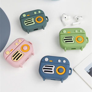 Airpods Pro Headset Case Cartoon Retro Radio Silicone Protective Cover for Airpods Wireless Bluetooth Earphone Wireless Charge
