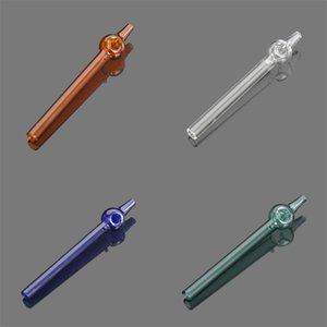 Portable Hookah Shisha Tips Straight Tube Smoking Glass Pipes Bubbler Reusable Blunter Holder Smoke Bong Bubbler Washable 7yh C2