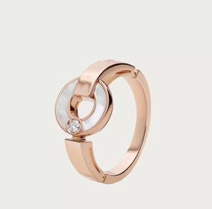Novo amor 2020 clássico disco branco shell diamante carta senhoras charme jóias anel de luxo requintado caixa de presente embalagem