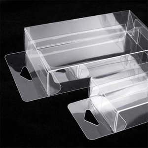 Blister PVC Plastic Clear Packaging Package Box Mobile Phone Case Cover Cosmetic Gift Box for Flat Items With Hook 100pcs lot