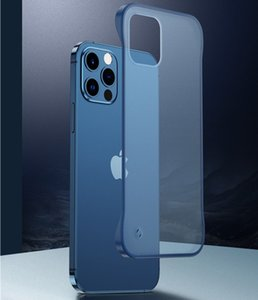 Cubierta transparente para iPhone 12 Mini 11 Funda Matte ultra delgada sin marco para iPhone 11 Pro X XR XS MAX 7 8 6 6S PLUS SE 2020 DURO PC