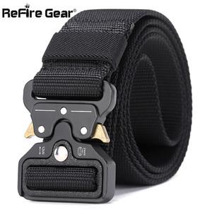 ReFire Gear Military Equipment Quick Release Army Belt Men Heavy Duty Combat Tactical Belt Casual Durable Nylon Strap Waist Belt 201117
