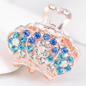 Мода милый маленький когтя аксессуары кристалл горный хрусталь когти для девочек сердца бабочка листья бабочка бабочка корона формы зажима
