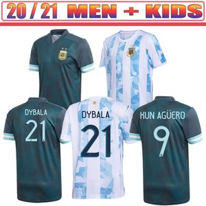 2020 Argentina soccer Jersey 20 21 Copa home away football shirt MESSI DYBALA AGUERO LO CELSO MARTINEZ TAGLIAFICO Men + Kids kit uniforms