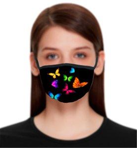 Maschere di progettazione Maschera Farfalla Stampa Cotton Face Mask Sport Outdoor Sport Isolamento Fashion Street Bocca Cover Casual Bandana per le donne DDC2219