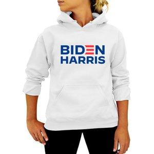 Unisex Men Women Pullovers Hoodies Biden Harris Letters Tops Joe Biden President Election Sweater Autumn Hooded Sweatshirts S-3XL BWE2982