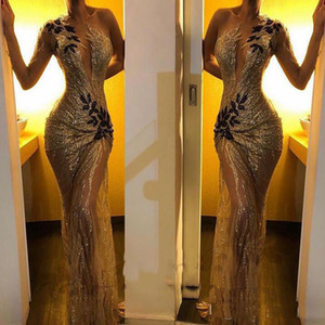 2021 Sexy African Mermaid Dress Dresses Gold Seasing Searing Party Wear Lace Appliques Sexy Vedi attraverso l'abito di occasione speciale