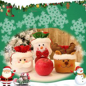 عيد ميلاد سعيد حقيبة تخزين الحلوى أكياس الكتان الرباط الاطفال هدية حزمة الديكور عيد الميلاد هدية حقيبة T10I42