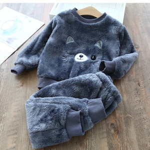New Homewear Fashion Pajamas Baby Boy Clothes Sets For Girls Clothing Toddler Child Garcon Casual Suit Children Kid Suits 201126