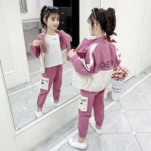 Kids Costume Teen Girls Clothing Set 2020 Spring ArmyGree Blouse Pants Suit School Girls Tracksuit Kids Clothes Set 10 12 Years Y1113