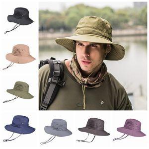 Folding Men Bucket Hat Lady Beach Hats Fisherman Hat Wide Brim Hats Outdoor Fishing Hiking Hunting Sun Hats Alpine Hat Unisex Cap ZZA887