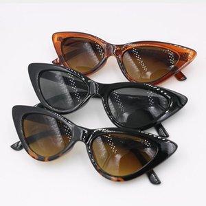 Güneş Gözlüğü Üçgen Kedi Göz Kadın erkek Bayanlar Gözler ile L Logo Güneş Gözlükleri 3 Renkler Gözlük Ücretsiz Alışveriş1