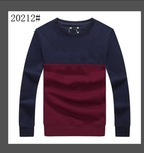 Sweatshirt Men Street dance Skateboard Cotton classic embroidery Round neck Plus velvet fashion Hip hop pullover new style Size m-xxl