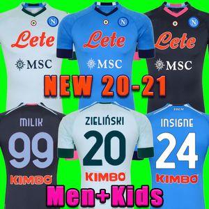 2020 2021 Serie A Naples Napoli Jerseys de fútbol Maradona Inicio de la tercera camisa de fútbol 20 21 Insigne Lozano Callejón Milik Kit Kit Futh