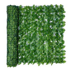 Искусственный лист садовый забор скрининг крена защищенная конфиденциальность искусственный забор стена ландшафтный садовый дизайн садовые украшения загородки панель