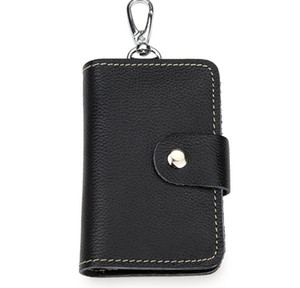 Genuine Leather key wallets card holder coin purse multi-function men & women's large-capacity cowhide waist key purse card case bag Yt20