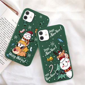 Christmas New Year Gift Soft Green Phone Case For iPhone 12 MINI 11 Pro Max XR X XS Max X 7 8 6 6S Plus Back Cover 500pcs