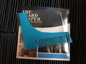 beard shaper Mens facial hair shaping tool plus comb all in one tool men Template Guide Design Mustache Beard